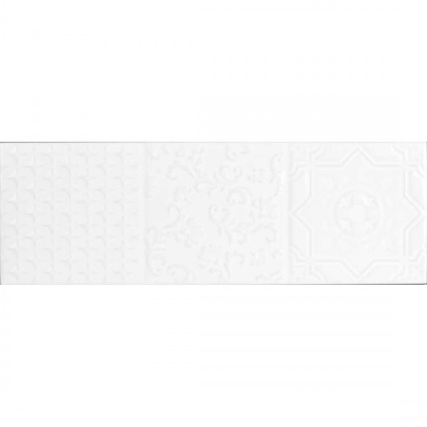 Maya Relieve 10x30cm Blanco Gloss
