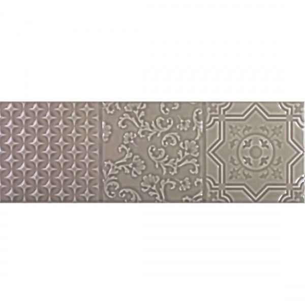 Maya Relieve 10x30cm Gris Gloss