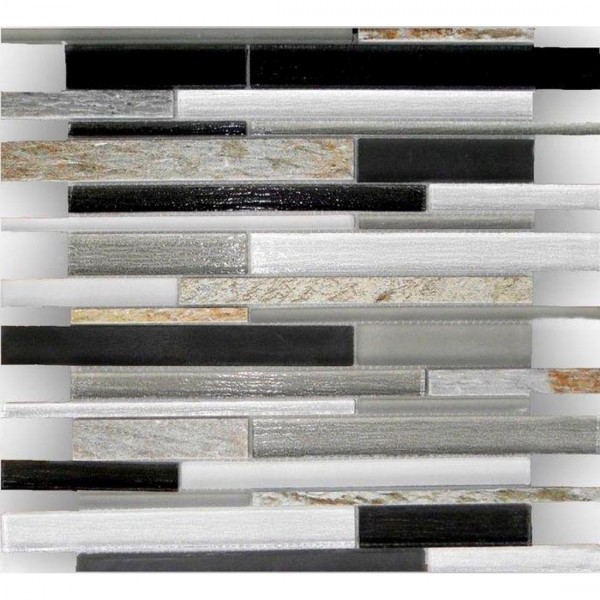 Glass Mosaic 30.2x30.2cm Black